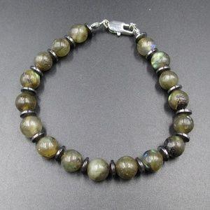 Jewelry - Vintage 8 Inch Rough Green Stones Bracelet